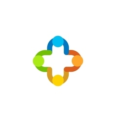 Isolated abstract colorful logo medical vector