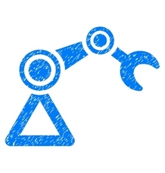 Manipulator equipment grainy texture icon vector