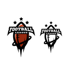 american football two options logo vector image