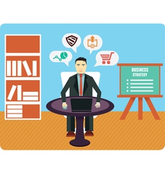 Consultation and analytics business expert vector