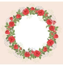 Rose wreath vector