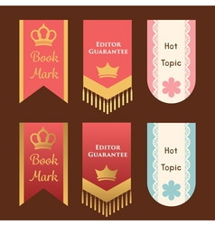 Cute and elegant bookmark or promotion flag or vector