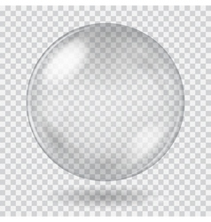 Big white transparent glass sphere vector