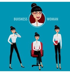 Set of business woman vector