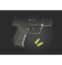 Detailed hand gun vector