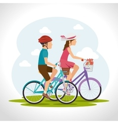 Bike and cyclism graphic design vector