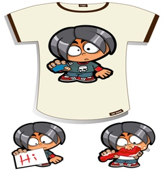Naughty Boy T-shirt vector image