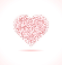 Heart made of dots vector