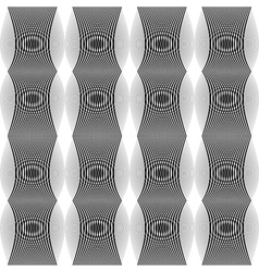 Design seamless monochrome lines textured pattern vector