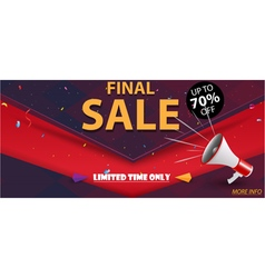Flash sale banner and best offer design vector