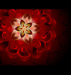 abstract red flower vector image vector image