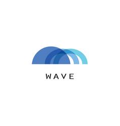 arch blue logo concept vector image