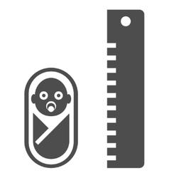 Baby height flat icon vector