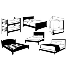beds vector image vector image