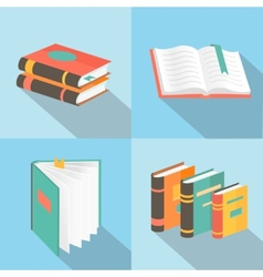 book signs and symbols - education concepts in vector image vector image