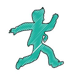 Businessman cartoon silhouette vector