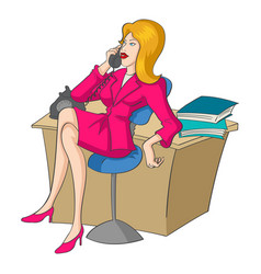 Businesswoman on the phone vector