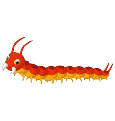 Centipede cartoon posing vector