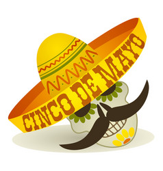 Cinco de mayo holiday post card cartoon vector