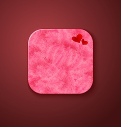Fluffy texture icon stylized like mobile app vector image vector image