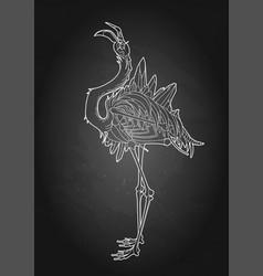 Graphic demonic flamingo vector