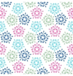 Green pink blue colored birds seamless pattern vector