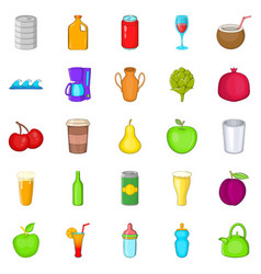 heavy drinking icons set cartoon style vector image vector image
