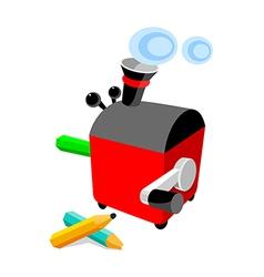 Icon pencil sharpener vector