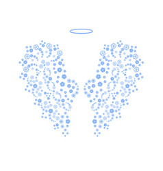 original floral angel wings and nimbus vector image