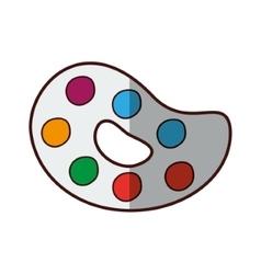 paint palette art vector image