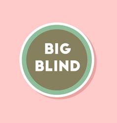 Paper sticker on stylish background poker big vector