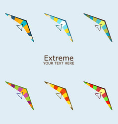 Paraplane in different color vector