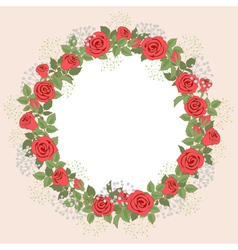 Rose wreath vector