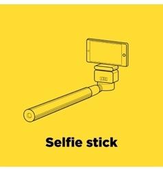 Selfie stick line icon vector image vector image