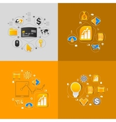 Set of sticker design high-tech business concept vector