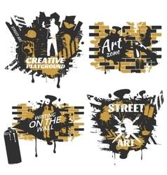 Street art compositions vector