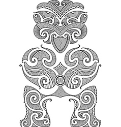 Tiki tattoo design vector
