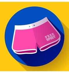 Women sports Beach Shorts icon Flat design vector image