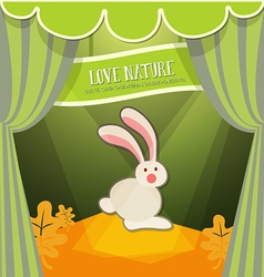 With nature and bunny vector