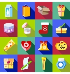 Packaging icons set flat style vector