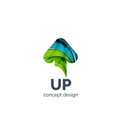 Up arrow logo business branding icon vector image