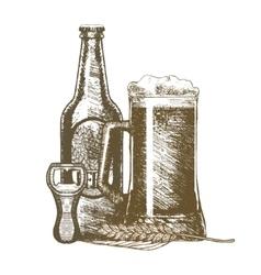 Beer Hand Draw Sketch vector image