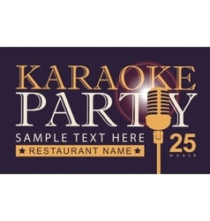 microphone for karaoke parties vector image