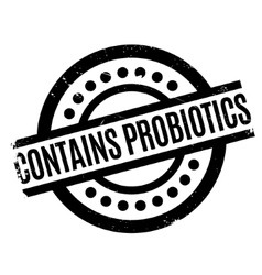 Contains probiotics rubber stamp vector