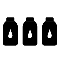 Plastic bottles icon simple style vector