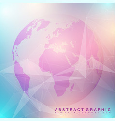 three-dimensional abstract background planet vector image