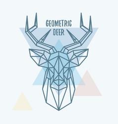 Geometric deer head vector