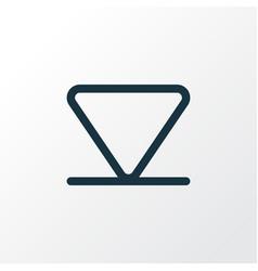 Arrow down outline symbol premium quality vector