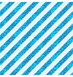 Seamless white-blue diagonal pattern vector