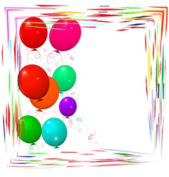 bright frame with balloons vector image